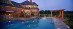 outdoor kitchen-large pool-pergola-outdoor furniture