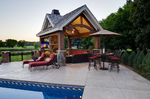 outdoor theater-outdoor furniture-pool-wetbar-luxury estate-pool house-outdoor fireplace and theater