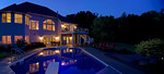 geometric pool-dusk photo-rural setting-luxury landscape