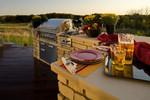 outdoor kitchen-sunset view-rural