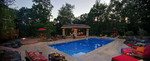 pool-enclosed outdoor kitchen-outdoor furniture-children play area-luxury landscape