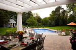 pergola-pool overlook-outdoor dining