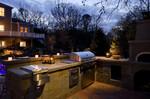 dusk photo-pizza oven-cool kitchen