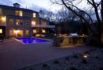 Pool fountains-dusk-outdoor kitchen