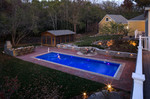 outdoor dinning hall-pool water feature