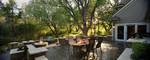 multi tier patio-outdoor kitchen-rural