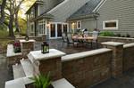 rural patio-grilling area-stone planters
