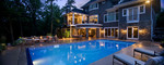 landscape lighting-pool-dusk photo-award winning