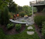 townhouse back yard landscape remodel-wooded-natural setting