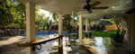 Floating stone table-pool-under deck lighting
