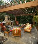tumbled paver patio-pergola
