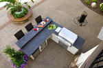 outdoor kitchen/palm tree/patio pavers