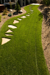 slab stone stepping path/perfect grass