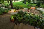 multi level paver patio/boat ramp