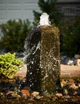 Close up of stone pillar bubbler