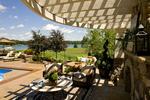 round pergola/lake view/ outdoor furniture