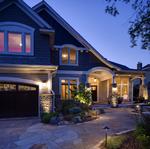 driveway,entrance path and night lighting