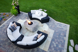 Luxury patio and entertainment area
