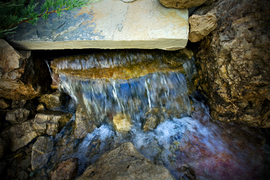 Backyard water fall  feature