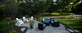 Exceptional patio and fire feature/outdoor furniture