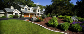 large yard garden/luxury home