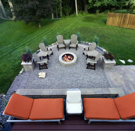 loose stone fire pit