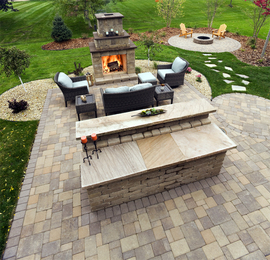 Fireplace/outdoor/patio