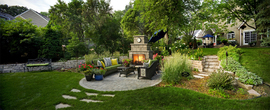 Award winning outdoor fireplace